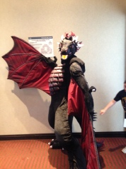 Amazing Costumed Dragon roaming VCON halls.